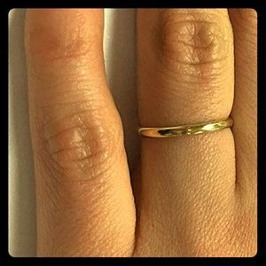 2 mm 14k yellow gold wedding band
